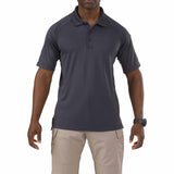 Performance Polo - Short Sleeve, Polyester Synthetic Knit in Charcoal