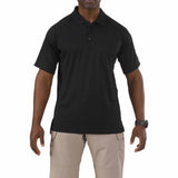 Performance Polo - Short Sleeve, Polyester Synthetic Knit in Black