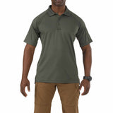 Performance Polo - Short Sleeve, Polyester Synthetic Knit in TDU Green