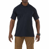Performance Polo - Short Sleeve, Polyester Synthetic Knit in Dark Navy