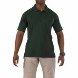 Performance Polo - Short Sleeve, Polyester Synthetic Knit in L.E. Green