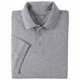 Men's S/S Tactical Polo - Jersey in Heather Grey