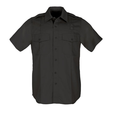 Men's PDU S/S Twill Class A Shirt in Black