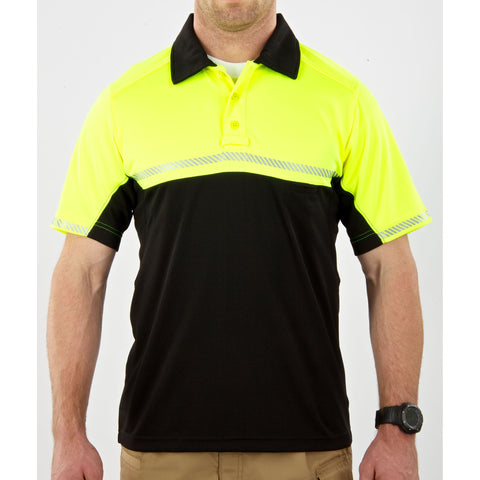 Bike Patrol Polo - Short Sleeve in Reflective Yellow