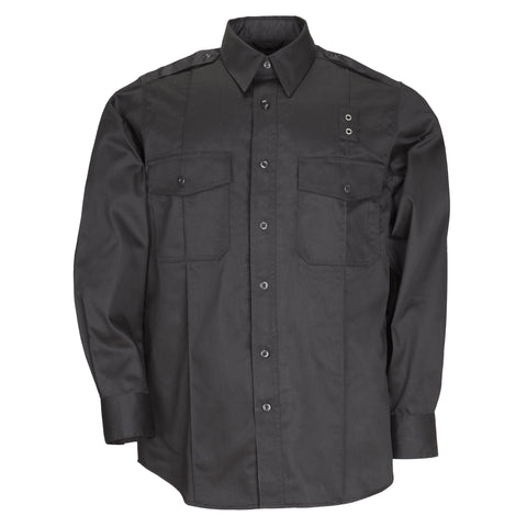 Men's PDU L/S Twill Class A Shirt in Black