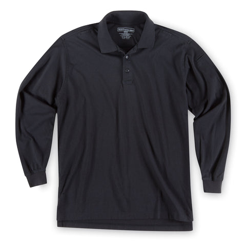 Men's L/S Tactical Polo - Jersey in Black