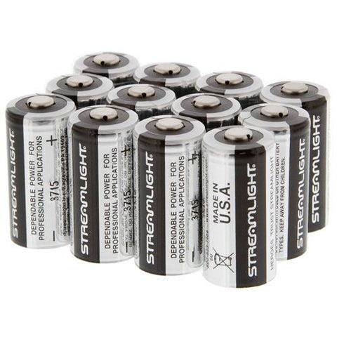 Streamlight CR123A Lithium 3V Batteries (12 Pack) - Style 85177