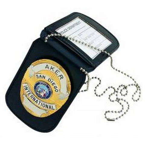 Aker Leather Neck Badge And Id Holder - A597-BP