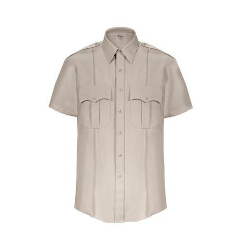 Elbeco TexTrop2 S/S Shirt - Zippered Silvertan - Style ELB-Z3312N