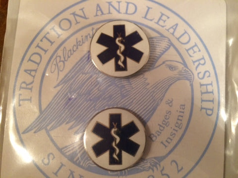 EMT Star of Life Collar Pins - Style J-194