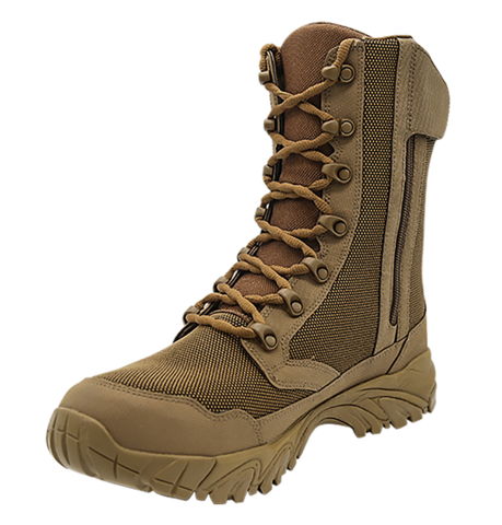 "Altai 8"" Brown Boot With Side Zip- Style MFH200-Z"