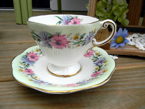 EB Foley, Cup and Saucer, Vintage Bone China Teacup, Vintage Teacups 10643 - The Vintage Teacup