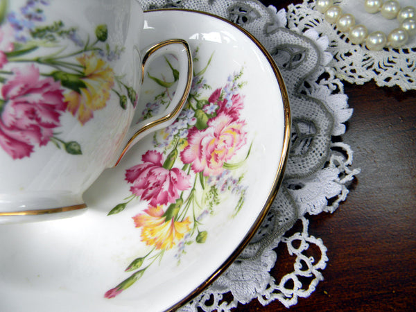 Duchess Teacup & Saucer, English Bone China, Made in England 10757 - The Vintage Teacup