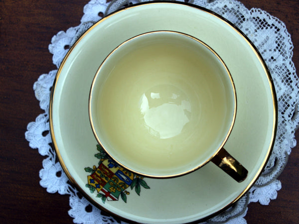 Royal Winton Grimwades Canada Crest Porcelain Cup and Saucer - Coat of Arms 11276