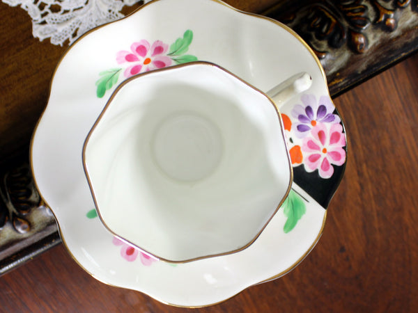Rosina, China Teacup, Tea Cup and Saucer, English Bone China, Teacup Set 12011