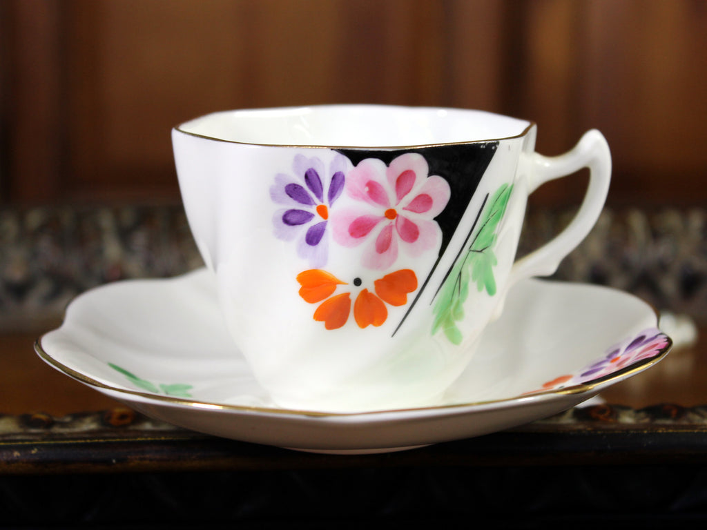 Rosina, China Teacup, Tea Cup and Saucer, English Bone China, Teacup Set 12011 - The Vintage Teacup
