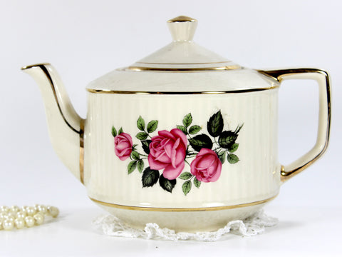 Vintage Sadler Teapot, Collectible Tea Pot, Large 6 Cup Teapot - BEAUTIFUL 12677