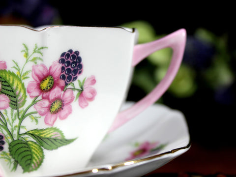 Shelley Floral Teacup and Saucer, Art Deco, c1945-1966   Tea Cup 12910 - The Vintage Teacup - 1