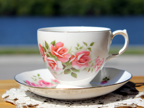 Gainsborough Cup and Saucer, Vintage Teacups, Pink Roses 13174 - The Vintage Teacup - 2