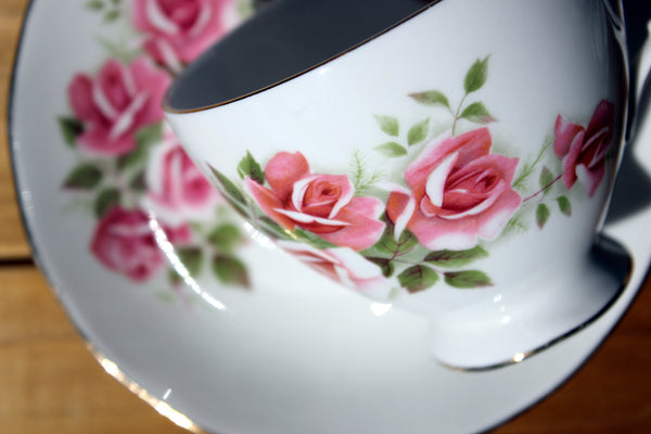 Gainsborough Cup and Saucer, Vintage Teacups, Pink Roses 13174 - The Vintage Teacup - 3