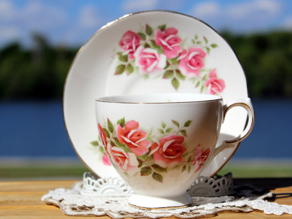 Gainsborough Cup and Saucer, Vintage Teacups, Pink Roses 13174 - The Vintage Teacup - 5