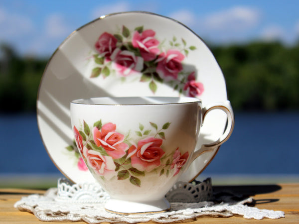 Gainsborough Cup and Saucer, Vintage Teacups, Pink Roses 13174 - The Vintage Teacup - 1