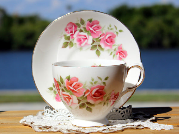 Gainsborough Cup and Saucer, Vintage Teacups, Pink Roses 13174 - The Vintage Teacup - 7