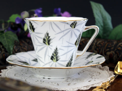 Royal Grafton, Art Deco, Teacup and Saucer, Chintz Cup and Saucer 13252 - The Vintage Teacup