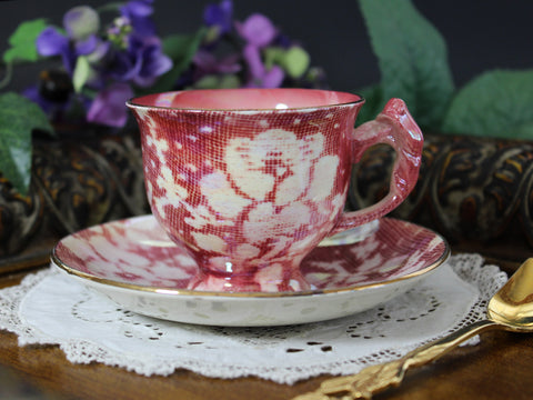 Royal Winton, Grimwades, Demitasse Cup and Saucer, Antique Teacups, Lustre Chintz Demi 13259