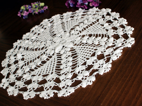 Large White Doily, Vintage Crochet Doilies, Vintage Table Linens,13753 - The Vintage Teacup