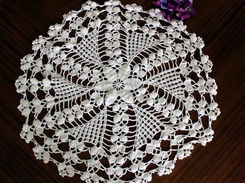 Copy of Large White Doily, Vintage Crochet Doilies, Vintage Table Linens,13753