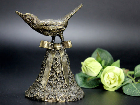 Wally Shoop, Bronze Casted Bird Sculpture, Christmas Bell 14237 - The Vintage Teacup