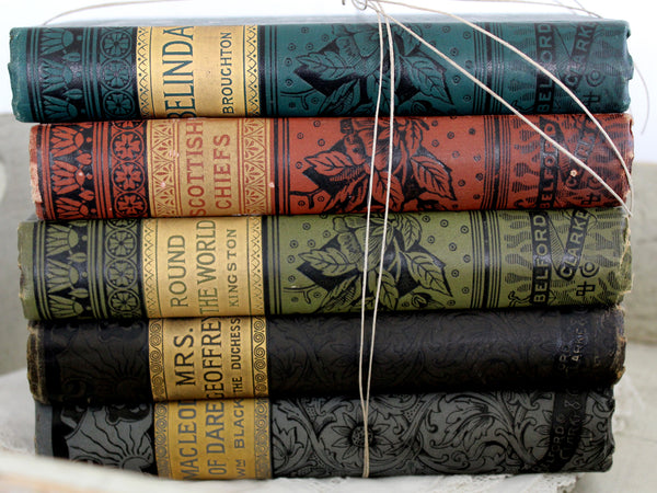 Antique Book Stack, Chicago, Belford, Clarke & Co, c1800s, Caxton Editions, Decor 14369