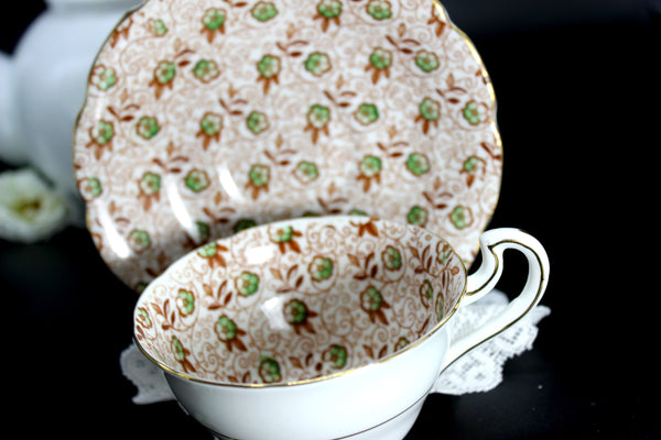 Chintz Tea Cup, Vintage Teacup and Saucer, Spencer Stevenson 14466