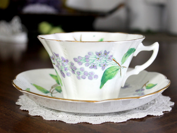 Antique Duchess Teacup & Saucer, English Bone China, Made in England 14818