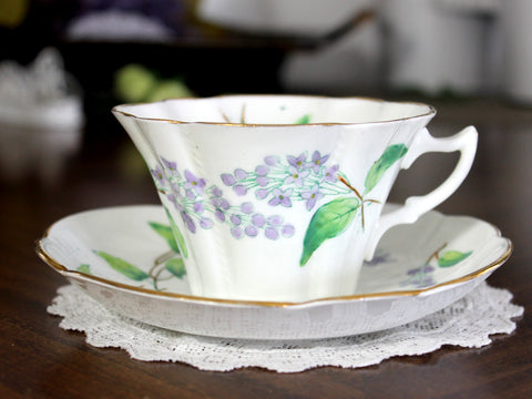 Antique Duchess Teacup & Saucer, English Bone China, Made in England 14818 - The Vintage Teacup