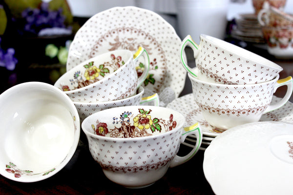 Royal Doulton, Grantham 6 Sets Tea or Coffee Cup & Saucer Set 14830 - The Vintage Teacup
