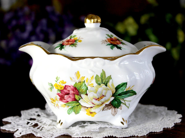 Hammersley Lidded Sugar Bowl, English Bone China 14858 - The Vintage Teacup