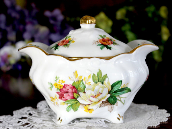Hammersley Lidded Sugar Bowl, English Bone China 14858