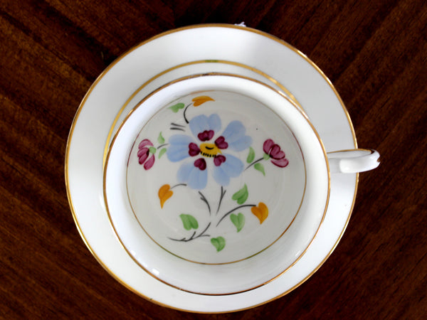 Royal Chelsea, Tea Cup and Saucer Set, Bone China, Vintage Teacups 14878
