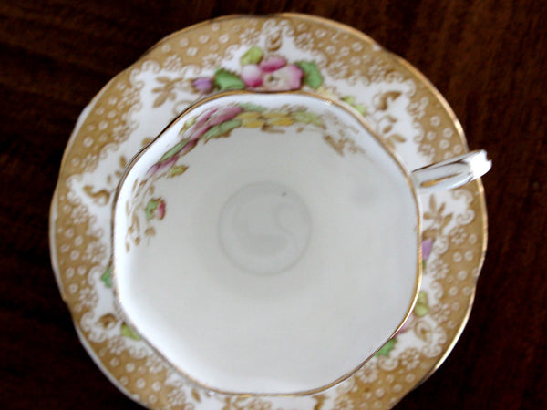 Royal Albert Cup & Saucer, Lovelace Teacup, Vintage Tea Cups, Bone China 15398