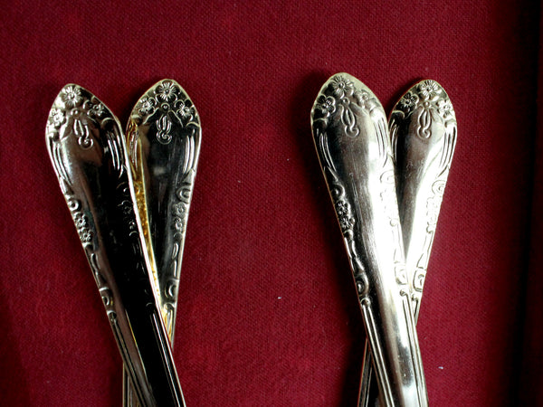 Goldtone Flatware, 45 Piece, Gold Tone Flat Ware Lot, Utensils, Vintage Cutlery 15421