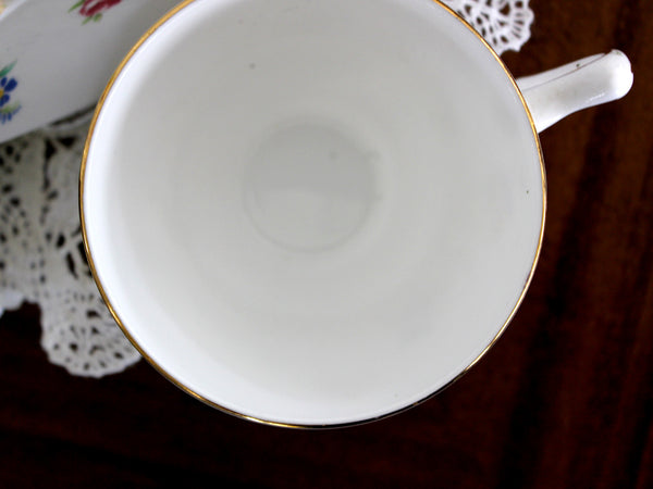 Crown Staffordshire Duo, Teacup and Saucer, Made in England 11492