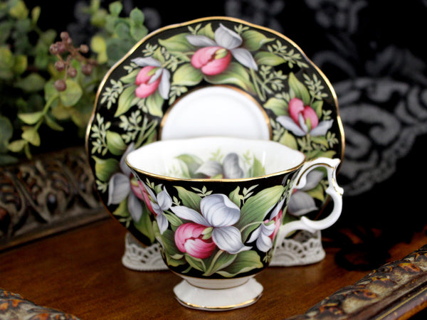 Royal Albert, Lady's Slipper, Floral Teacup and Saucer, Provincial Flowers Series 15463