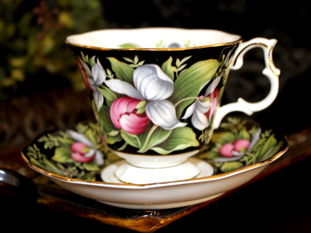 Royal Albert, Lady's Slipper, Floral Teacup and Saucer, Provincial Flowers Series 15463 - The Vintage Teacup