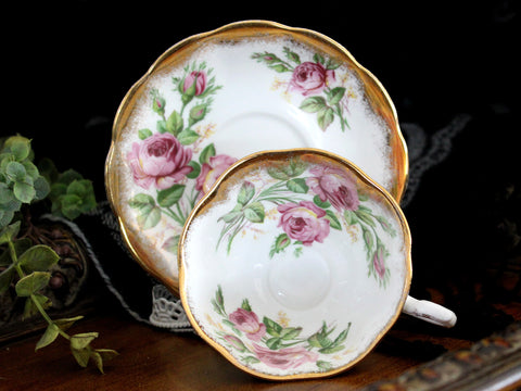 Royal Albert Cabinet Cup & Saucer, Avon Shaped, Vintage Tea Cups, Bone China 15479