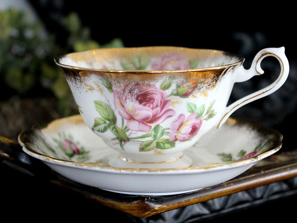 Royal Albert Cabinet Cup & Saucer, Avon Shaped, Vintage Tea Cups, Bone China 15479 - The Vintage Teacup