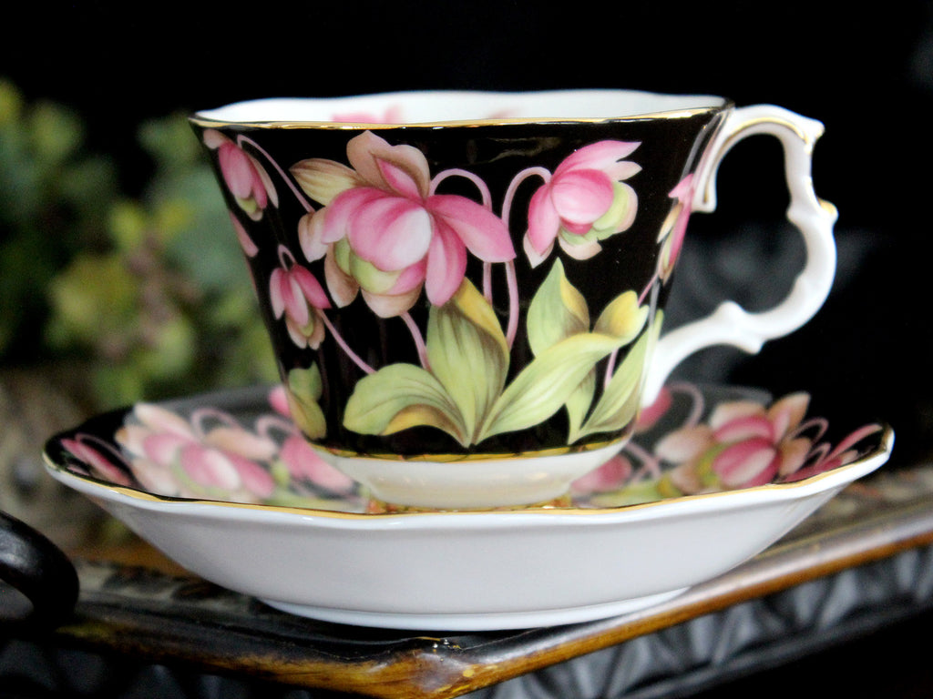 Royal Albert, Pitcher Plant, Floral Teacup and Saucer, Provincial Flowers Series 15485 - The Vintage Teacup