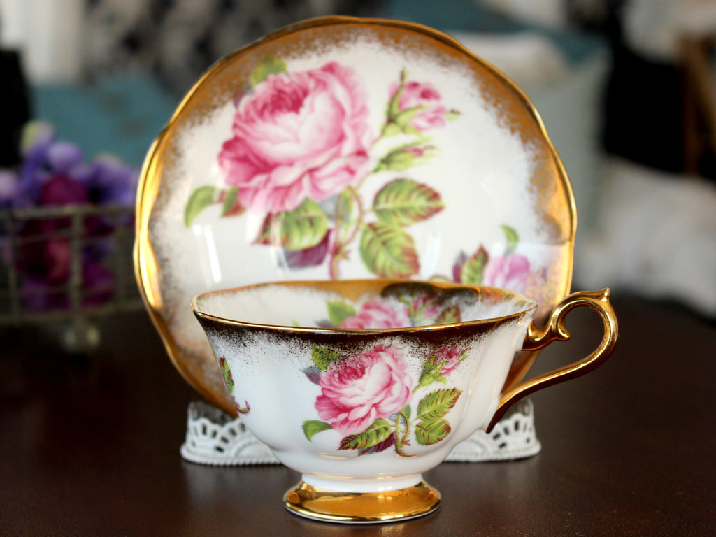Royal Albert Cabinet Cup & Saucer, Avon Shaped, Vintage Tea Cups, Bone China 15498 - The Vintage Teacup