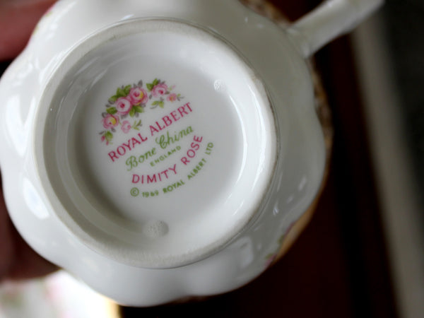 Royal Albert Dimity Rose, Tea Cup and Saucer, Vintage Teacup 15575